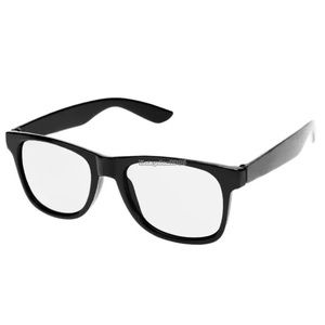 BRAND NEW CLEAR LENS & BLACK PLASTIC FRAME GLASSES