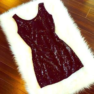 zinga Dresses & Skirts - Zinga sequin drop back black night out dress
