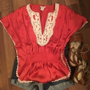 Tops - Bohemian silky top!!