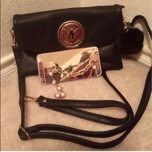 Handbags - Beautiful Black fashion bag . Pom not included