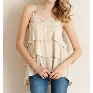 Tops - Ruffled Tank Top