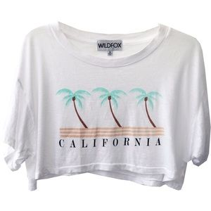 SOFT☁️Wildfox California Coast Cabana Crop Tee
