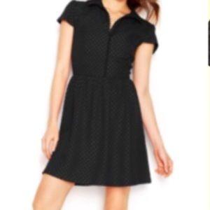 Kensie Dresses & Skirts - Kensie Jacquard Polka Dot Collared Button Dress