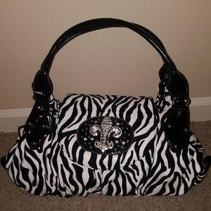 Handbags - Zebra Patterned Purse