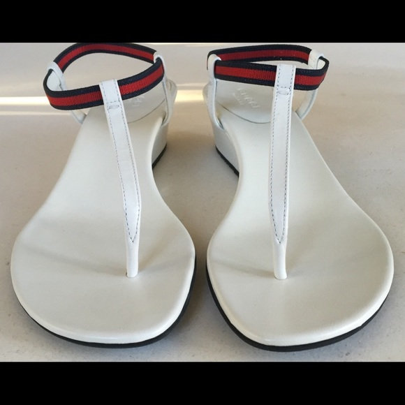 3bfe37134ed6 Gucci Shoes - NWOT Gucci Areia Thong Wedge Sandals