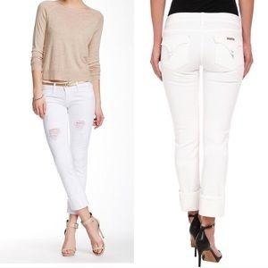 Hudson Jeans Denim - *Price firm Hudson whitesemi distressed Ginny crop
