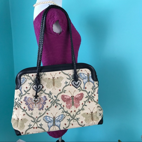 Brighton Bags Large Audrie Butterfly Tote Bag Purse