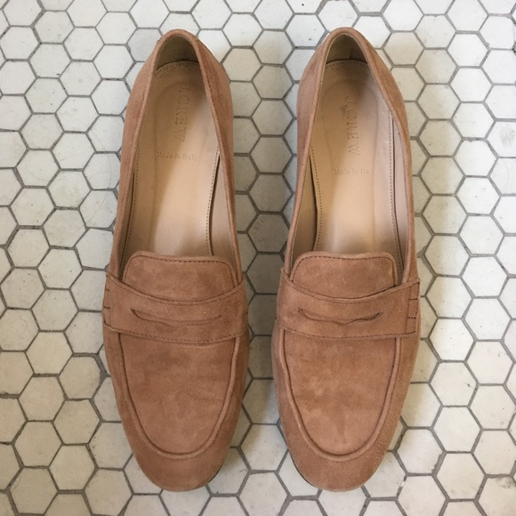 6ea5d573c8c J. Crew Shoes - Charlie penny loafers in suede