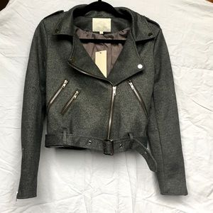 Jackets & Blazers - NWT Gray Belted Biker Jacket