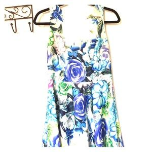 Eliza j Floral Fit And Flare Dress Size 8