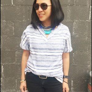 Artisan Ny Tops - Artisan NY Striped Linen Shirt
