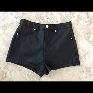✨Forever 21 Black Faux Leather Shorts Size S