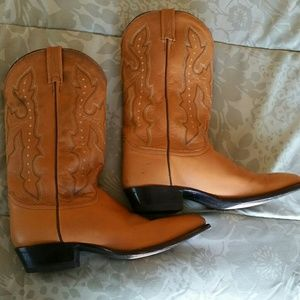 Justin Boots Shoes - Gorgeous Justin Men's Cowboy Boots, Size 9 1/2 EE
