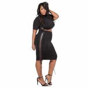 Dresses & Skirts - Sexy black skirt set