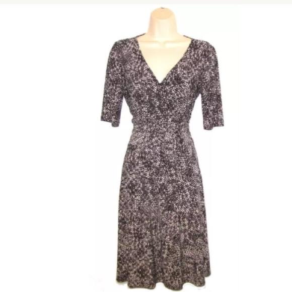 Sleeve Lauren Ralph Wrap Short Dresses Dress qFUwHP