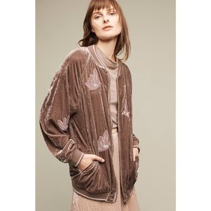 Anthropologie Oversized Bomber Jacket by Hei Hei