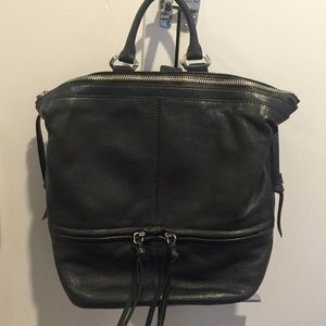 Handbags - Dark Green Leather Backpack