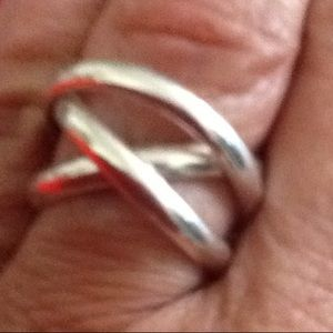 Jewelry - Interlocking stamped 92.5Sterling  silver rings