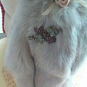 Jewelry - SWEET SECRETS VINE GRAPES BROOCH