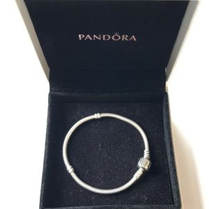 Pandora Jewelry - Pandora 7.1 Iconic Silver Clasp Charm Bracelet