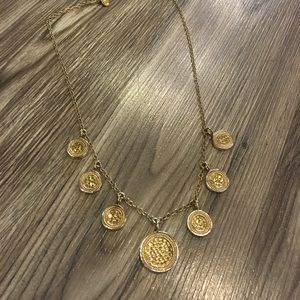 Anna Beck Jewelry - Anna Beck gold coin charm necklace 18.5 length