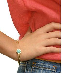 Jewelry - Circle Stone with Arrow Cuff Open Bracelet