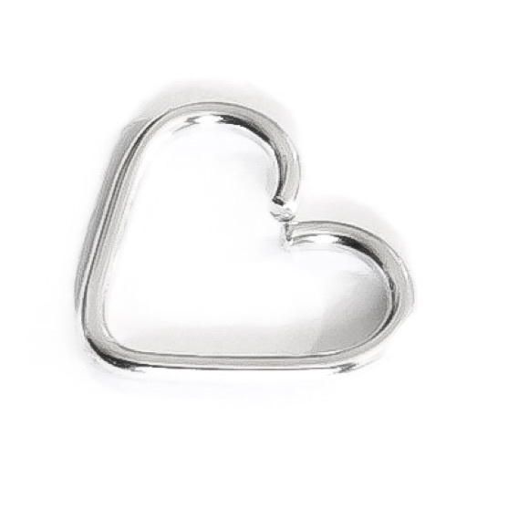 Moodtherapy Jewelry - 925 Sterling Silver Heart Shaped Daith Earring
