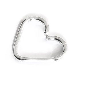925 Sterling Silver Heart Shaped Daith Earring
