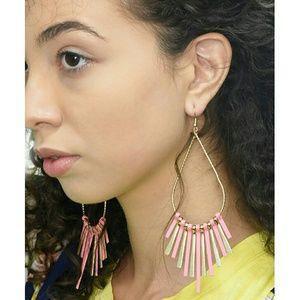 Jewelry - Tear Drop Fringed Earrings