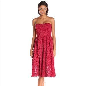 Vera Wang Dresses & Skirts - Vera Wang Red Lace Corset Dress