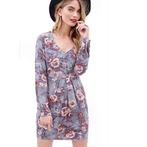 Floral Front Pocket Mini Dress