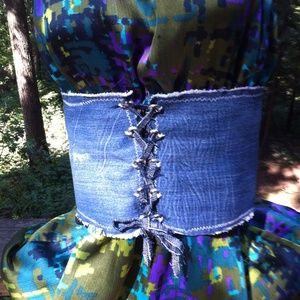 HPx2,It s a belt! Upcycle denim cumberbun