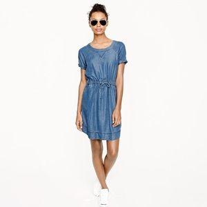 J. Crew Dresses & Skirts - Lightweight Chambray Drawstring Dress