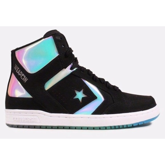 28239ee002cd82 Converse weapons hologram shoes black