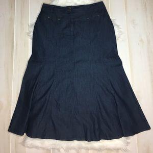 Larry Levine Dresses & Skirts - Larry Levine Stretch Denim Long Skirt Size 12