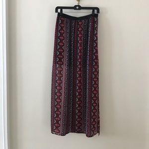H & M Patterned Maxi Skirt