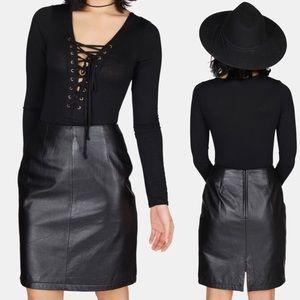 Maxima Dresses & Skirts - Vintage Genuine Leather Skirt