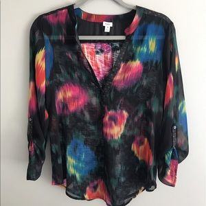 Anthropologie Tops - Tiny for Anthropologie shirt Tunic black sheer top