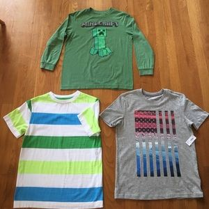 Old Navy Other - Bundle of 3 Old Navy Medium Boys Shirts-one is NWT