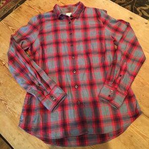 J Crew plaid shirt, like new, size M