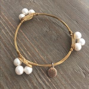 Bourbon and Bowties Jewelry - Pearl Bourbon and Boweties Bangle