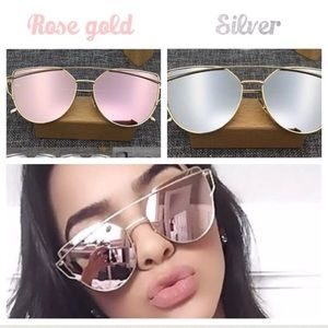 8ced983ede37 Elegant Jewelry Accessories - 🔴🆕Only silver left Cat eyed mirror gold  sunglass
