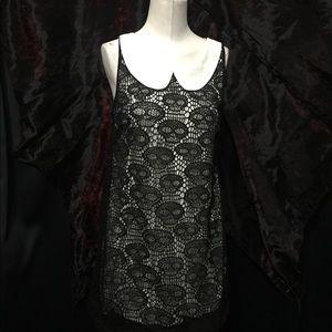 Audrey 3+1 Dresses & Skirts - Black Skull Lace Mini Dress