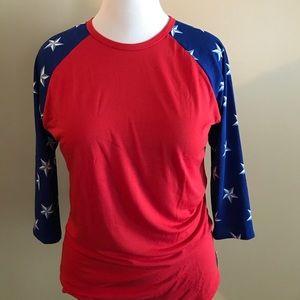 Lularoe Americana randy star sleeves