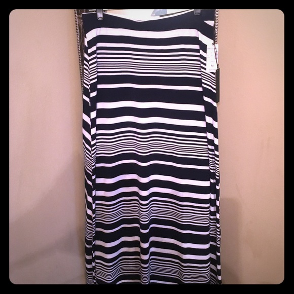 73 dresses skirts navy blue and white striped