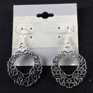 New Silver Floral Earrings