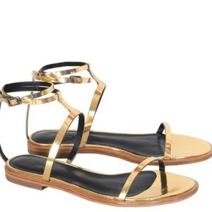 PRICE DROP!!!Tibi Metallic Colby Sandals