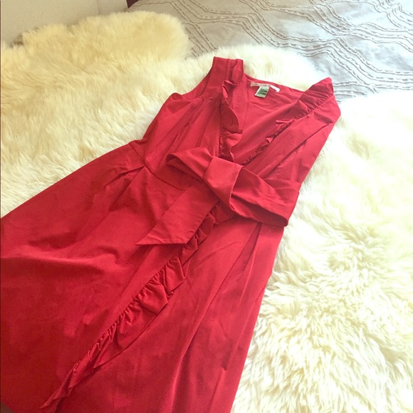 86 off diane von furstenberg dresses amp skirts dvf red