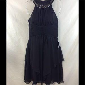 $198 Eliza J black dress size 8