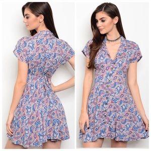 Dresses & Skirts - 🆕The Katy paisley print tie back skater mini